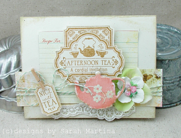 Afternoon tea a cordial invitation card on luulla afternoon tea a cordial invitation card stopboris Images